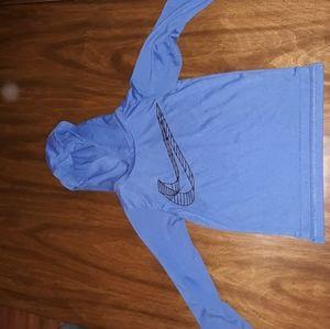 Nike light weight drifit hooded shirt